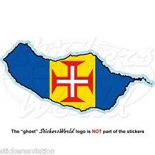 Madere island carte-drapeau funchal portugal, portuguese vinyle sticker