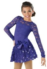 NEW FIGURE ICE SKATING BATON TWIRLING DRESS COSTUME DANCE small adult purple