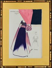 """""""Fabulous, Original 433 Bangkok"""" by Pierre Balmain Couture Fashion Framed Plate"""""""