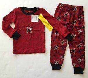 NWT Gymboree Glow in the Dark 3 3T Red Black Widow Spider Pajamas Gymmies