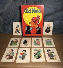 Vintage Old Maid Card Game | #4116 | Milton Bradley | 1936 | Missing Cards