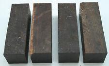"""4 African Blackwood 1 1/2""""x 1 1/2""""x 4 3/4"""" Exotic Wood Turning Lumber AB-1"""