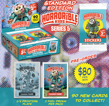 HORRORIBLE KIDS - Series 5 Sticker Cards Horror Parody Garbage Pail Kids Artist