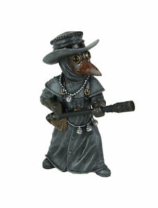 Hand Painted Epidemia Exterminatus Steampunk Plague Doctor Statue 5.5 Inches