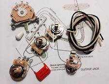 TAOT Wiring Kit - Stratocaster® - CTS 450G, Oak 5-way, 047 OD Cap - Strat®