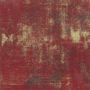 Grunge Metallic Berry SKU 30150 523M Gold on Red Moda Quilting Cotton Fabric
