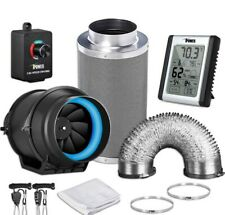 iPower 6' Fan Carbon Filter 16' Duct w/ Fan Speed Control and Humidity Monitor