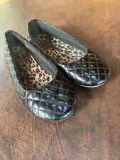 Girls Size 3 SMART FIT Shoes Ballet Flats Black Slip On
