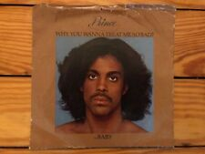 Prince ‎– Why You Wanna Treat Me So Bad? 1980 WB WBS 49178 45 Sleeve VG Vinyl NM