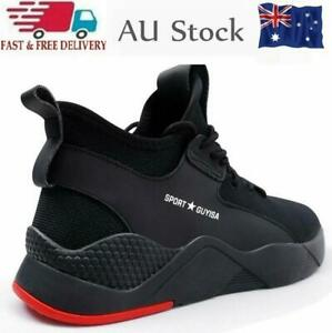Mens Womens Safety Shoes Steel Toe Cap Work Boots Hiking Trainers Sneakers AU