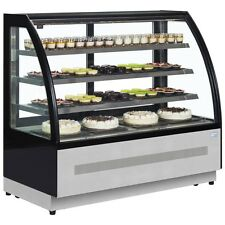 PATISSERIE CURVED GLASS SHOP DISPLAY FRIDGE COUNTER @ £1582+Vat & FREE DELIVERY