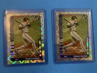 LOT (2) Donruss Freddie Freeman Elite Series SP Serial# 054/349 + Base Braves