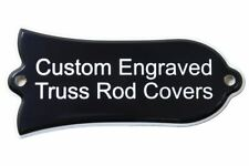 Custom Engraved Truss Rod Cover fits Gibson Les Paul, SG, Acoustic 2ply B/W