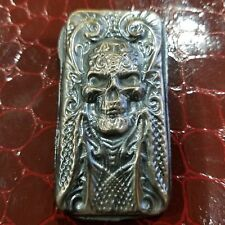 3.00  ozt hand poured .999 silver skull Bar