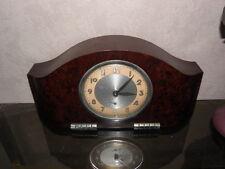 old CLOCK ALARM big Art Deco old antique bakelite antique chrome VINTAGE bauhaus