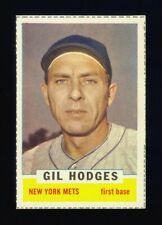 1962 BAZOOKA GIL HODGES HIGH GRADE FULL BORDERS 1ST NEW YORK METS BASEBALL TEAM