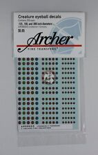 Archer Creature Eyeball Decals w/Slit Pupils #2 (4 Large) (100 Figures) AR99005