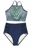 CUPSHE Women's Riddle Story Print Bikini Set Tie Back, Multi-color, Size Small x