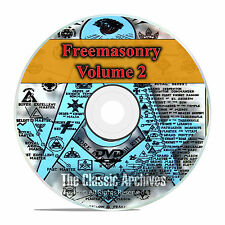 Freemason Secret Society, Illuminati, Mason, 5000+ Books & Images Vol 2 DVD F50
