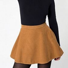 American Apparel Mustard Yellow Corduroy Skirt Size S