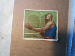 1910 HASSAN CIGARETTES JACK JOHNSON BOXING CARD SIDE VIEW