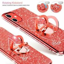 iPhone 11 Case Glitter Luxury Diamond Rhinestone Funcy Ring Grip Thin Girl Red