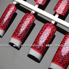 50 pcs Pre-Design French Acrylic False Nail Tips Nail Art #021A-16