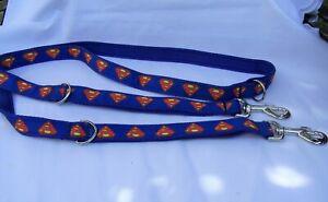 double ended police style dog training lead superman/superhero/batgirl/pow boom
