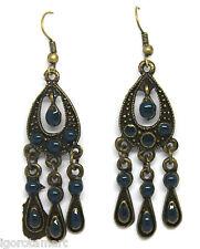 NUOVO Stile Antico Tono Bronzo Stile Vintage orecchio Stud BORCHIE Dangle Earrings