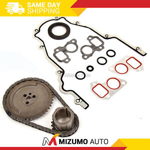 Timing Chain Kit Cover Gasket Fit 97-04 Cadillac Chevrolet GMC 4.8 5.3 6.0 OHV