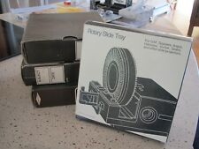 LOT OF 4 VINTAGE ROTARY SLIDE TRAYS HOLD 100 2x2 Projector Slide
