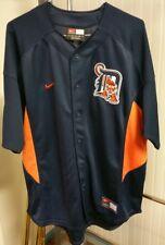 Detroit Tigers Navy Blue Baseball Jersey Nike Team Mlb Men's Xl No Player Sewn
