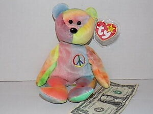 Ty Beanie Baby PEACE  1996 Rare And MINT CONDITION No Reserve!