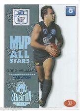 1994 Dynamic AFL Sensation Acetate MVP [ CC4 ] Greg WILLIAM Carlton (Cats Logo)