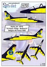 "Syhart Decals 1/72 ALPHA JET Belgian Air Force ""75 years 11 Squadron Batbird II"""