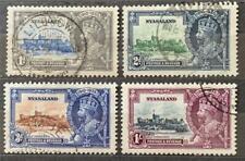 More details for nyasaland. 1935 george v. silver jubilee set. sg123/26. fine used. #ts399