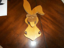 Wooden Rabbit (?) Head 3D Wall Art Hanging Home Decor - First Dimensions