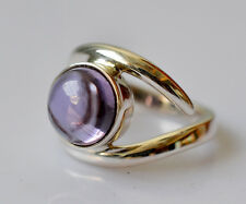 100% Color Change Lab Created Alexandrite 925 Solid Sterling Silver Midi Ring
