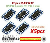 5pcs Mini RS232 MAX3232 Levels To TTL Level Module Serial Converter Board