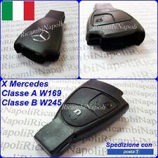 COVER GUSCIO A 2 TASTI CHIAVE TELECOMANDO + LOGO X MERCEDES CLASSE A W169 B W245