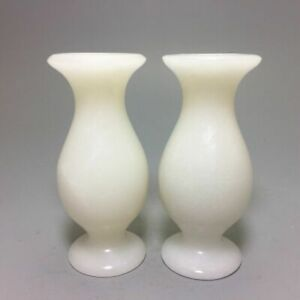 China Hand Carved white Jade Vase decorated living room decoration fengshui pair