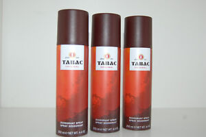 (28,17€/1 Liter) Tabac Original 3 x 200 ml Deo Spray Deodorant Bodyspray Sparset