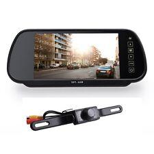 """7"""" LCD Car Rear View Mirror Monitor + 7LED Night Vision Reverse Backup HD Camera"""