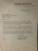 WALTER CRONKITE SIGNED ORIGINAL 1959 TYPED LETTER ON CBS NEWS LETTERHEAD!!!!!