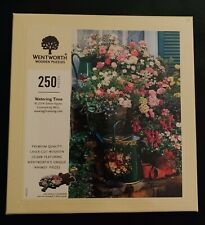 """Wentworth Watering Time Wooden 250 Piece Jigsaw Puzzle, (9.8""""x14.7"""") New Sealed"""