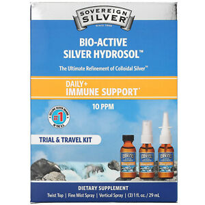 Sovereign Silver, Bio-Active Silver Hydrosol, Daily + Immune Support, Trial &