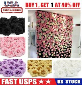 50Pcs Artificial Fake Roses Silk Flower Heads Wedding Party Home Garden Decor US