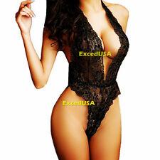 Sexy-Lingerie-Sleepwear-Women's-Underwear-G-string-Bodysuit-Teddy-Lace-Nightwear