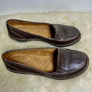 """Naturalizer Brown Leather """"Shane"""" Loafer - Women's Size 7"""