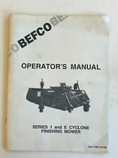 Befco Series 1 And E Cyclone Finish Mower Operators Manual Nice Condition